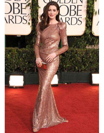 Anne Hathaway  lentejuelas Armani
