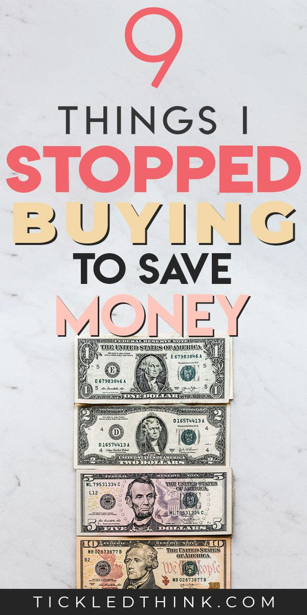 9 Things I Stopped buying to save Money