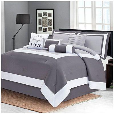 Best Aprima™ Queen Gray 8 Piece Hotel Comforter Set At Big Lots 400 x 300