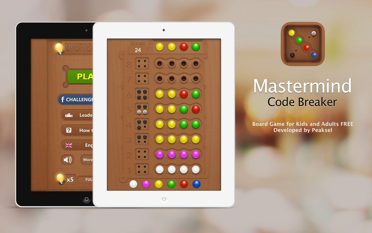 Mastermind Code Breaker iOS version https//itunes.apple