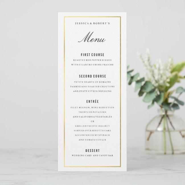 create your own flat menu  zazzle  wedding menu