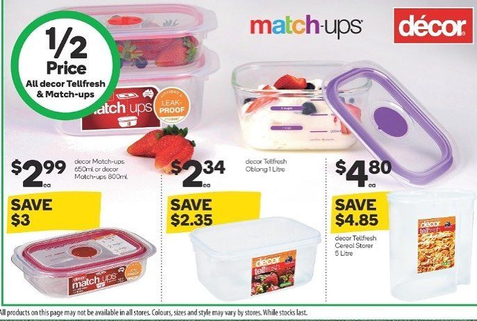 Decor Matchups Tellfresh Foodstorage Containers Are Halfprice