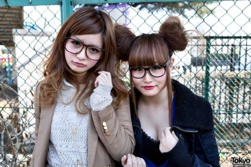 cute glasses and hair
