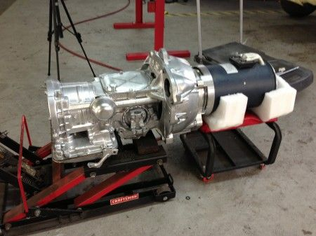 Powerglide Automatic Transmission mated to electric motor