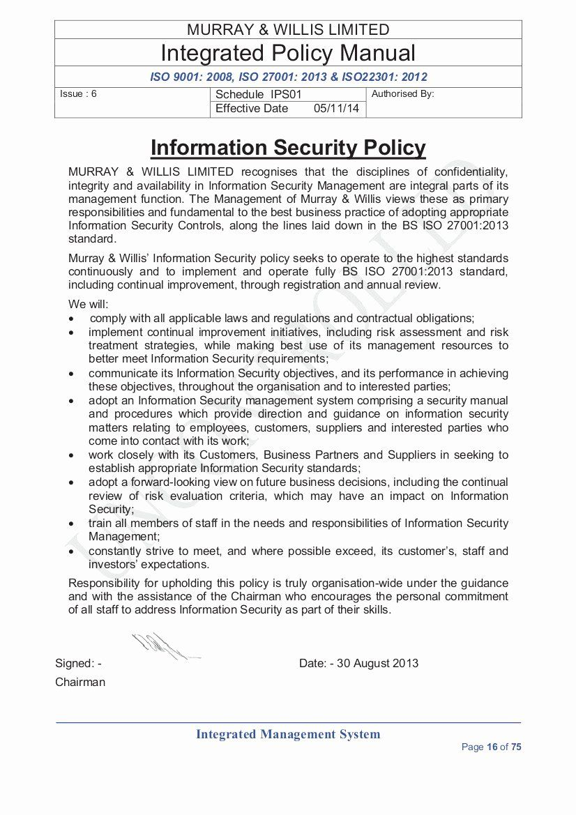 Small Business Security Policy Template In 2020 Policy Template