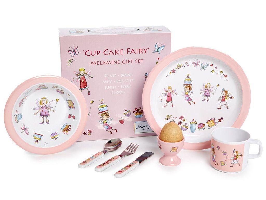 Children S 7 Piece Melamine Set Cup Cake Fairy
