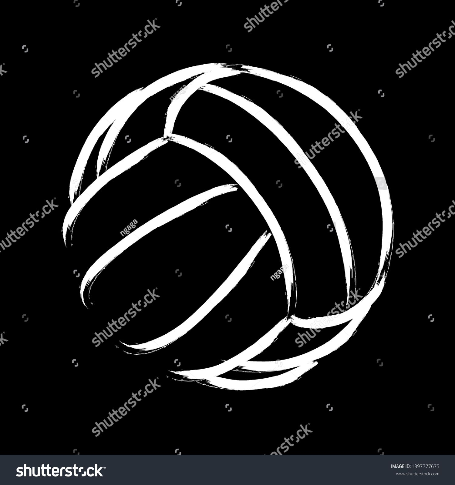 Stylized Illustration Hand Drawing Of A Volleyball Background Sport Vector Ad Ad Hand Drawing Stylized How To Draw Hands Volleyball Backgrounds Stylized