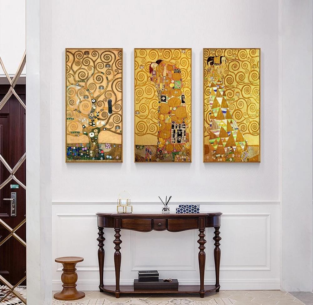 Famous Artists Wall Art Gustav Klimt Trees Paintings Fine Art Canvas Prints Artist Wall Klimt Art Fine Art Painting