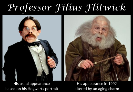 The Two Faces of Filius Flitwick. I never noticed that!!