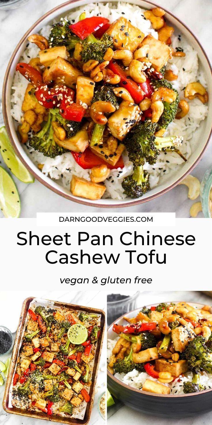 Sheet Pan Chinese Cashew Tofu | Darn Good Veggies
