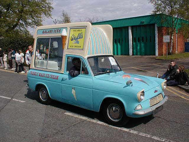 Ford Anglia Ice Cream Van At Old Classic Cars