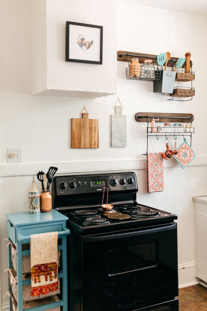 haute off the rack, decorating small spaces, world market, kitchen