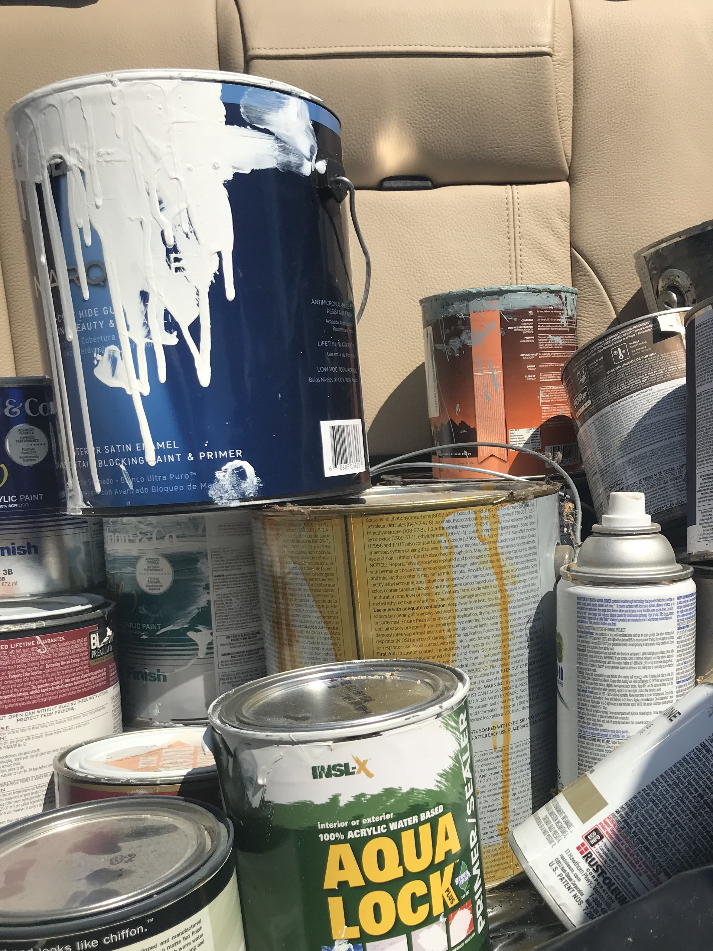 So Where Can You Take Your Old Paint Cans To Dispose Of Them If
