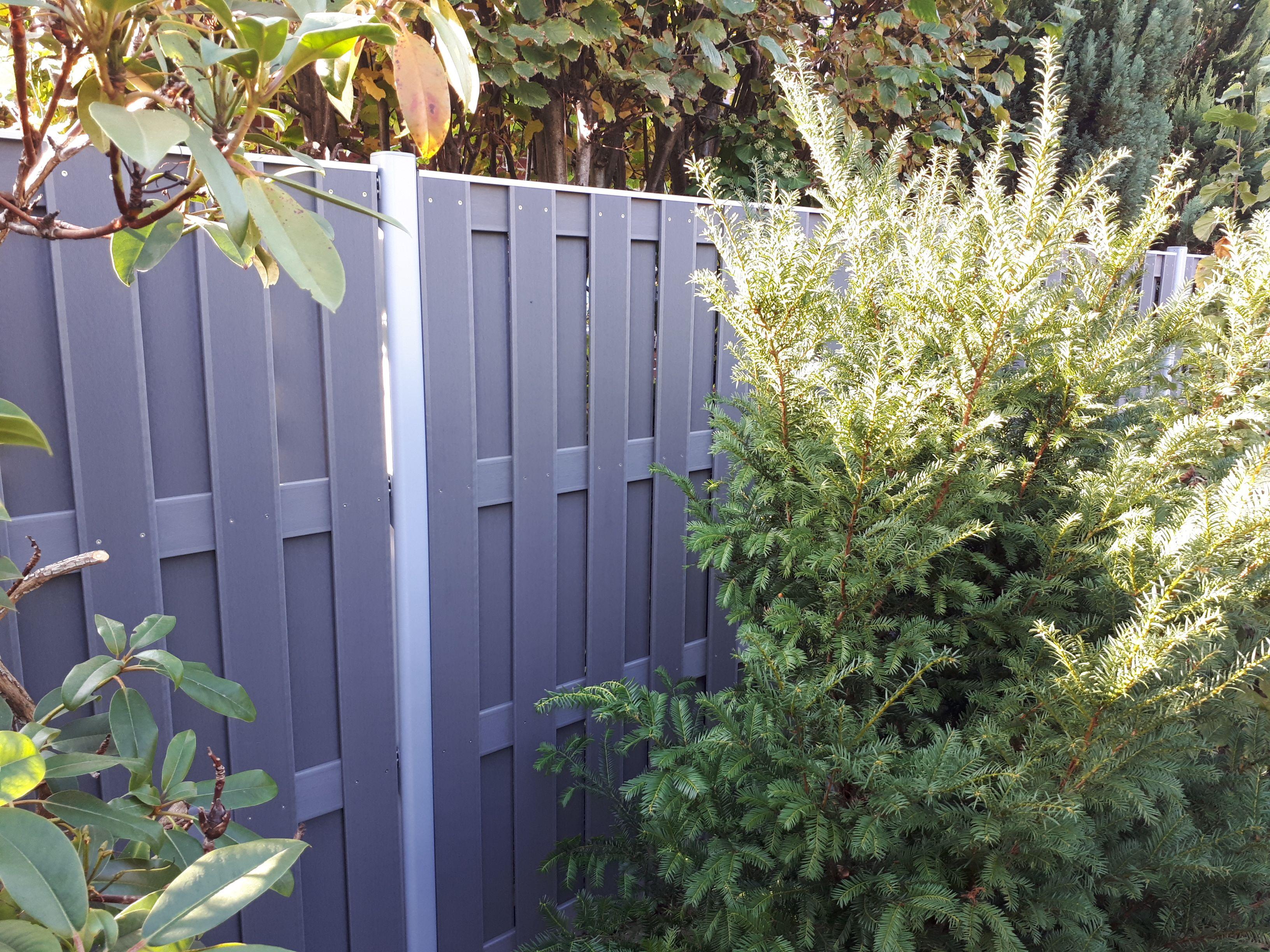 Bau WPC Sichtschutz Zaun inkl. Aluminiumpfosten und