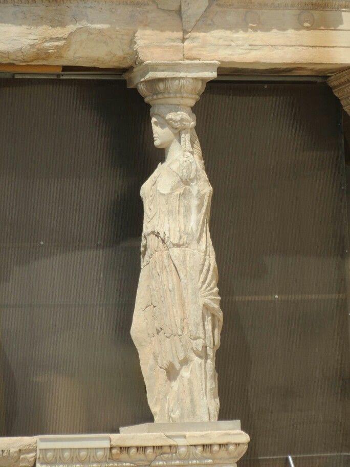 Detalle. Cariatide de la Acropolis de Atenas.