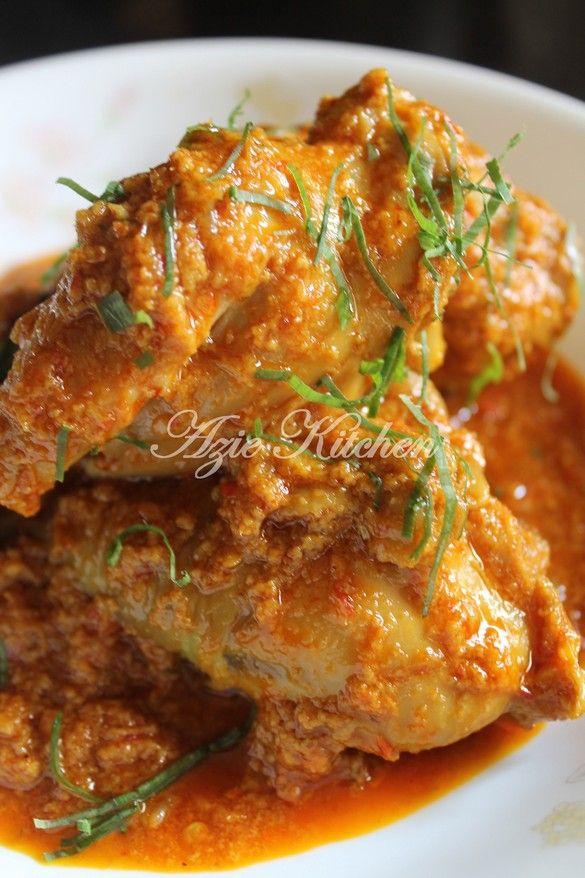 Azie Kitchen Rendang Pedas Ayam Hidangan Sahur Resep Masakan Makanan Dan Minuman Resep Ayam