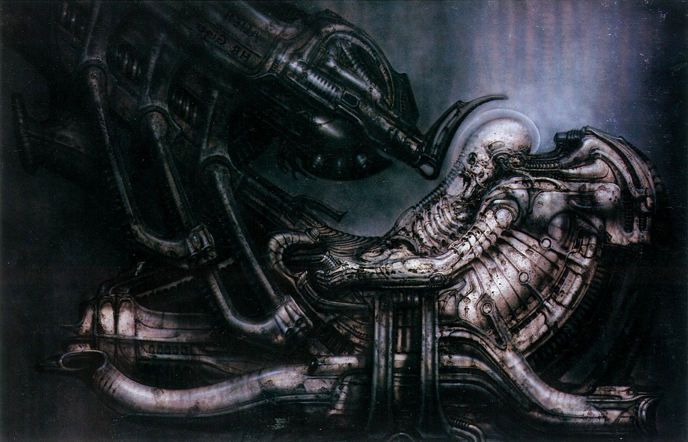 H R Giger Machine Aliens Movie Prometheus Movie
