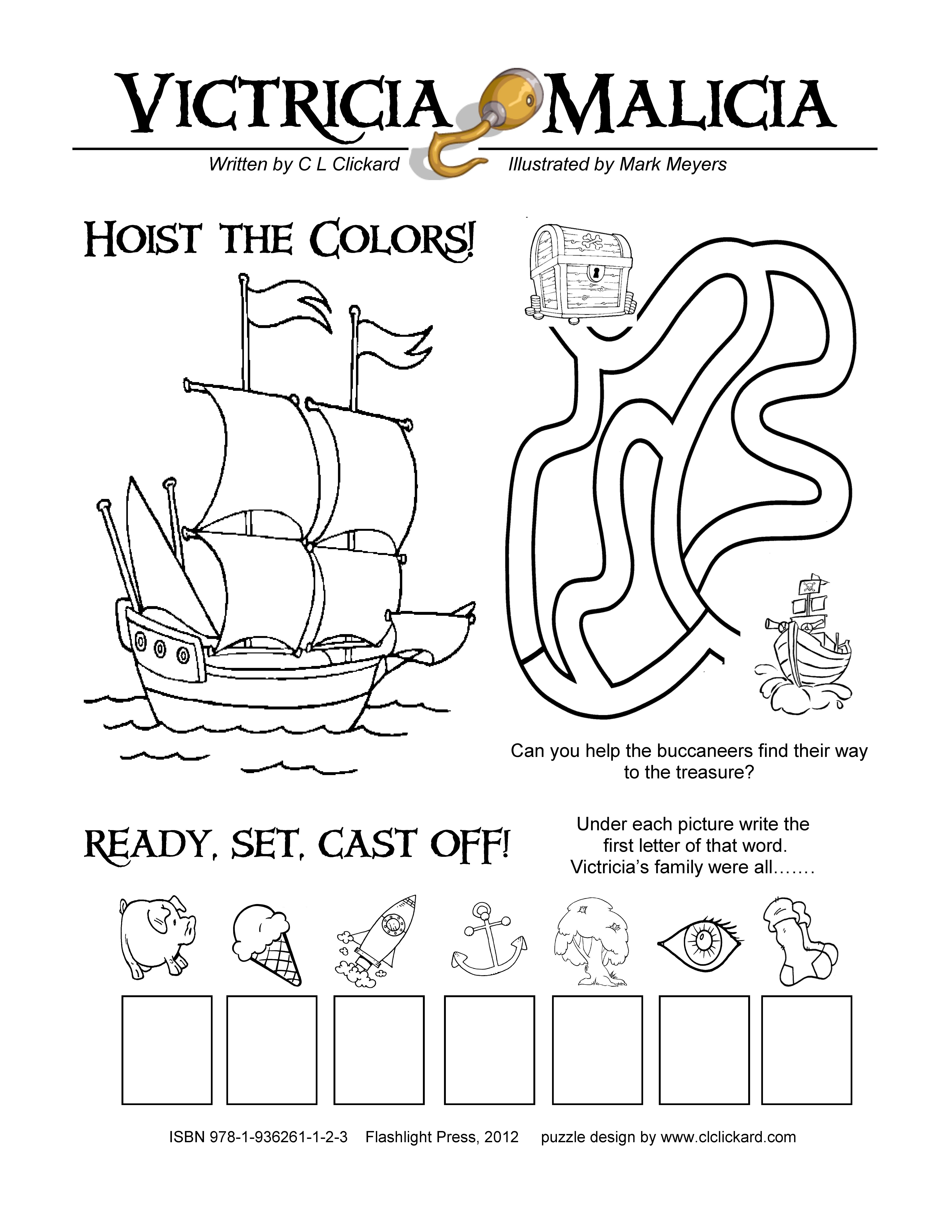 Pirate Activity Page
