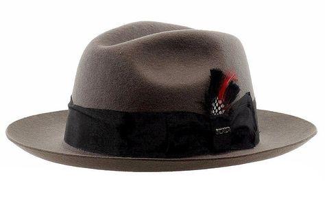3fb3269cf98 Scala Classico Men s Grey Wool Felt Fedora Hat