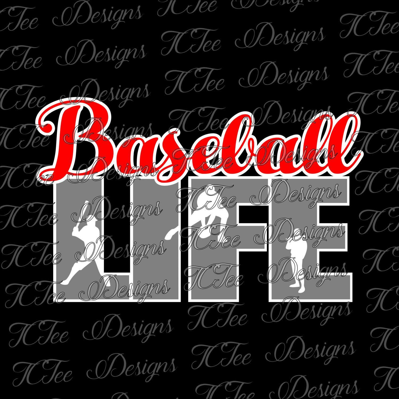 Baseball Mom Baseball Life SVG Design by TCTeeDesigns