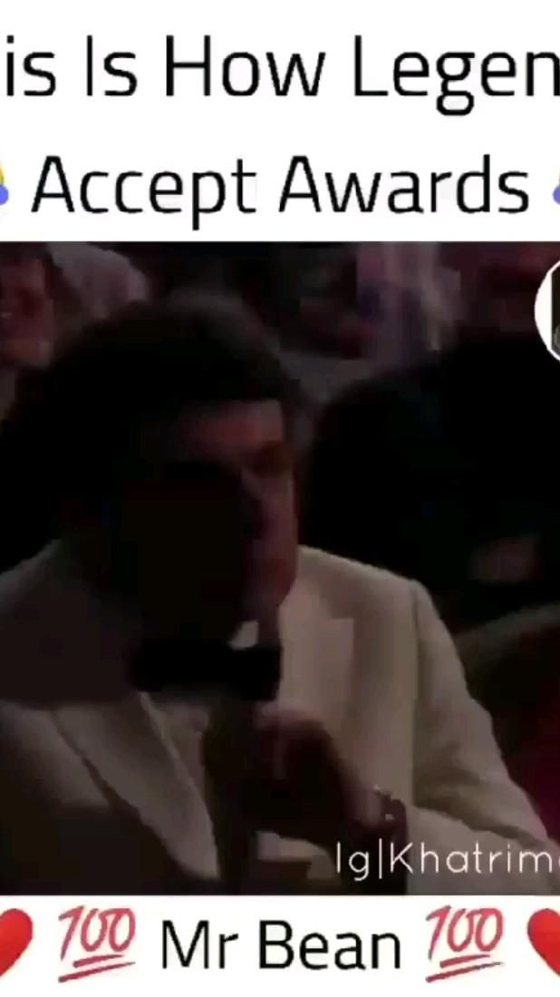 This Is How Legends Take Awards #Mrbean