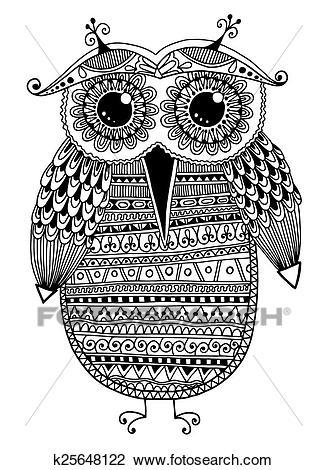 صور رسومات زخرفية ابيض واسود Google Search Owl Coloring Pages Colouring Art Therapy Coloring Pages