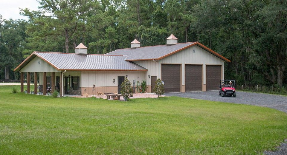 Morton buildings custom home in ocala florida shop for Pole barn home kits indiana
