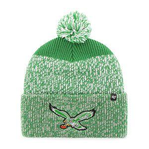 9c2ee544 '47 Brand Philadelphia Eagles Static Cuff Pom Winter Knit Hat (Kelly Green)