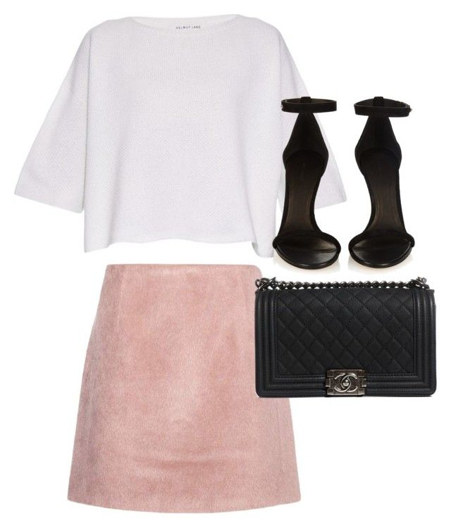 """""""Untitled #2577"""" by elenaday ❤ liked on Polyvore featuring Helmut Lang, Isabel Marant, Acne Studios and Chanel"""