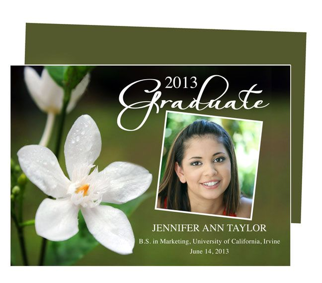 Graduation Announcements Templates For Word, Publisher, Openoffice