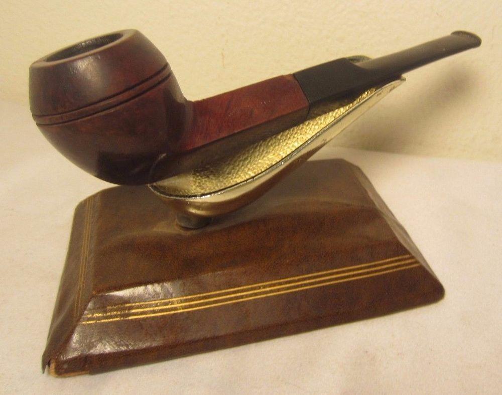 Vintage J. Mutschler NY Straight Bulldog Style Estate Briar Tobacco Smoking Pipe