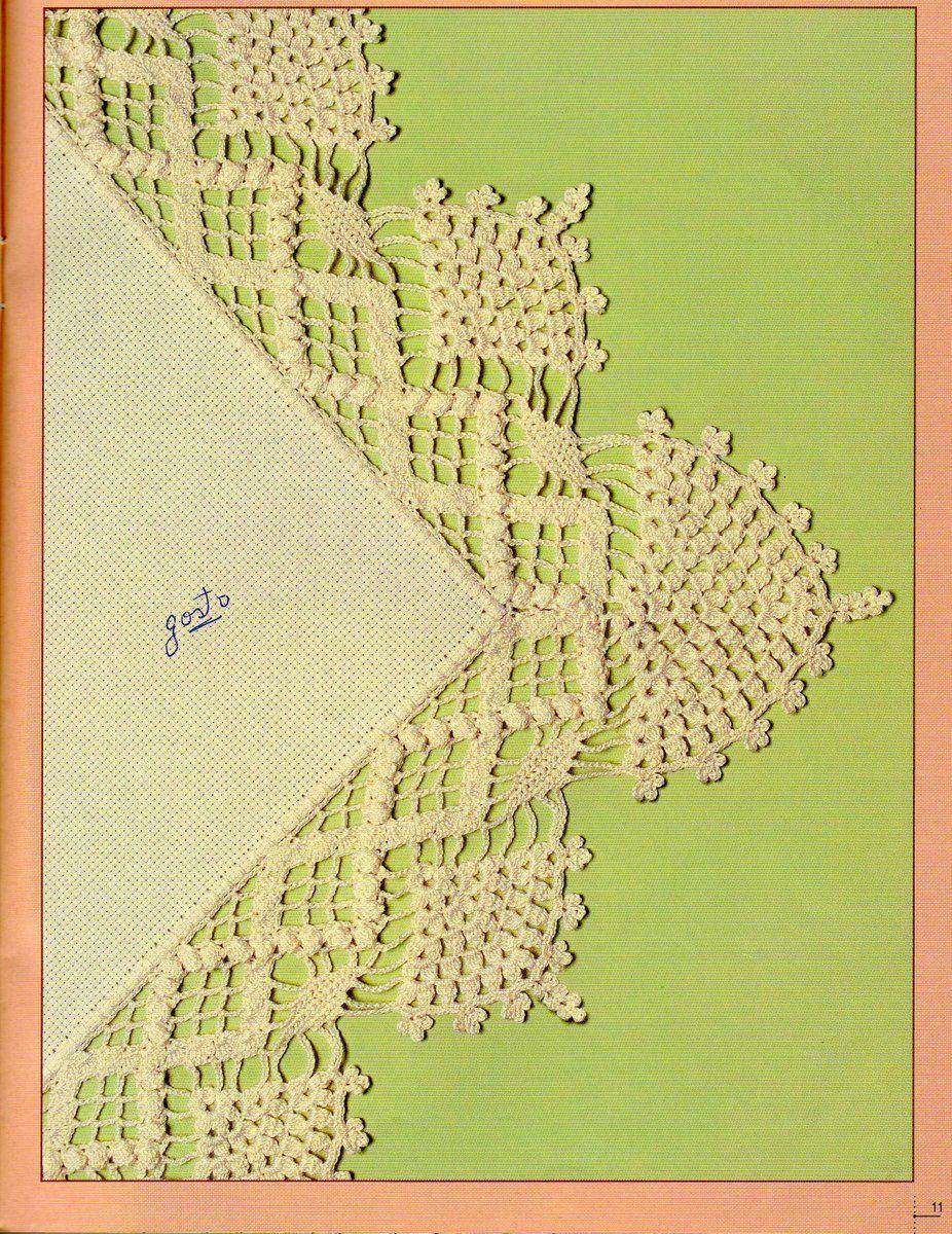 *Cantinho da Arte* Dani Priess: Gráficos de Barrados em Crochê