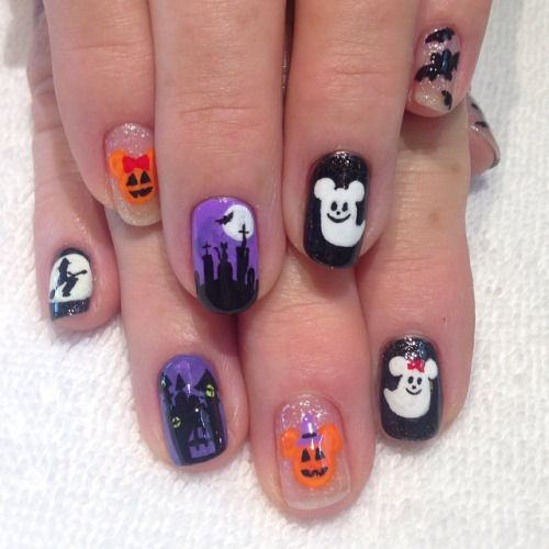 Disney Halloween! #nailart #nailartclub #nailswag #nails # ...