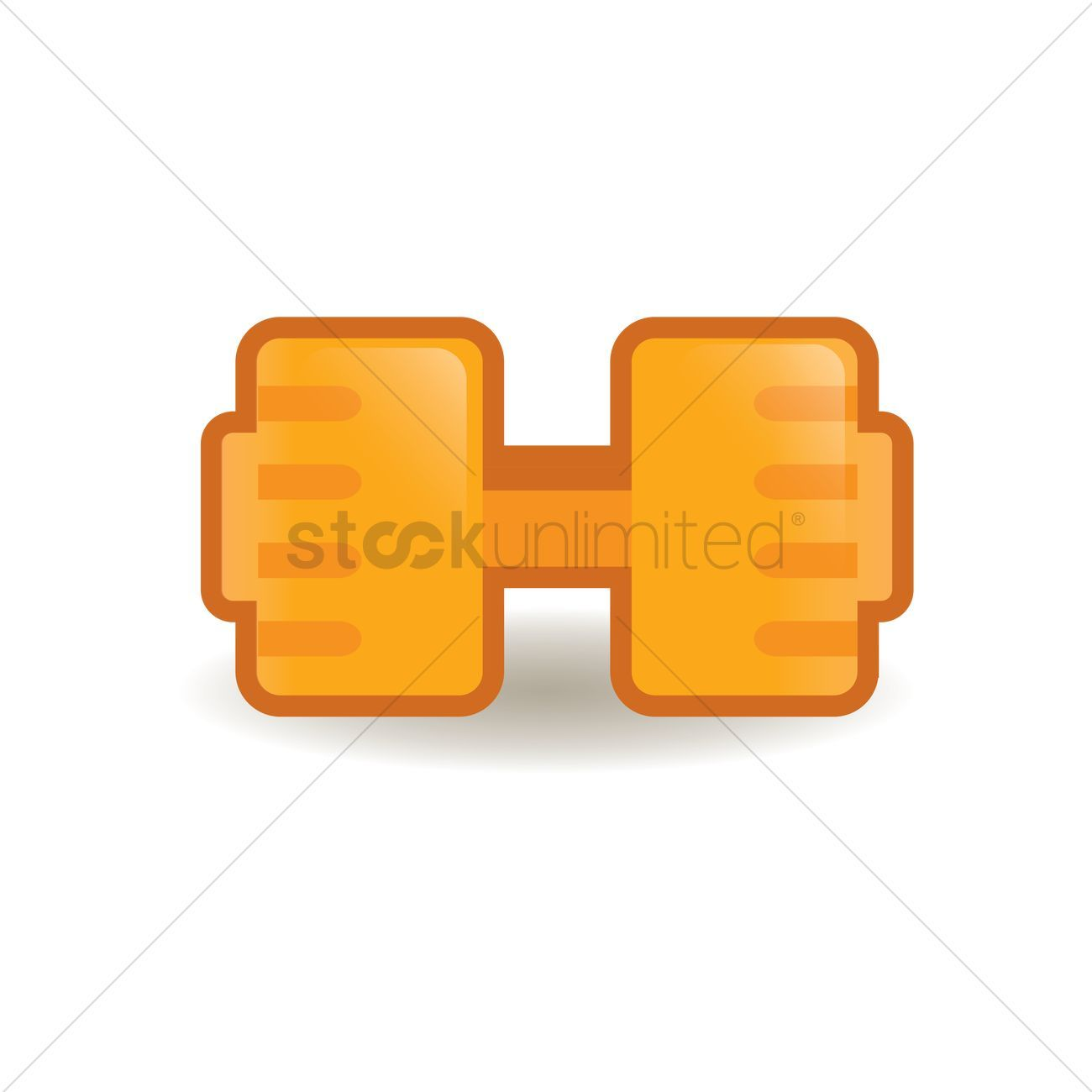 Dumb bell stock vector