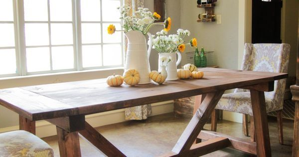 Liked on Pinterest: Ana White | Build a 4x4 Truss Beam Table | Free and Easy DIY Project and Furniture Plans