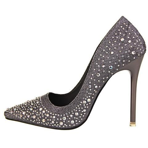 0912200c07c Women Thin High Heels Shoes Fashion Rhinestone Shoes - Gold Silver Blue  Black Gray Pink Fashion Classy High Heels Pumps Shoes Girls outfit 2017  awesome gift ...
