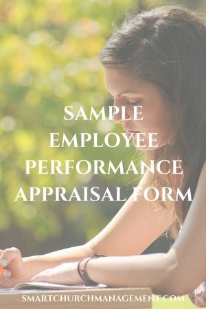 Example Employee Performance Appraisal Form  Churches Management
