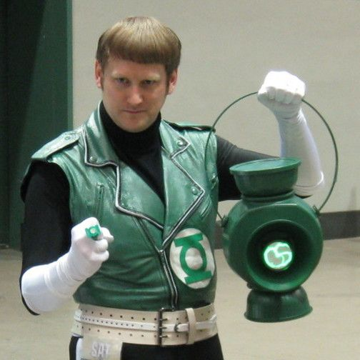 Free Shipping Cosplay Costume Guy Gardner Green Lantern Vest Any Size#