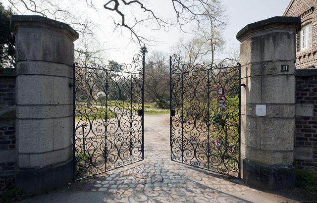 Frühling im Lantz'schen Park Park, Anlage und Düsseldorf