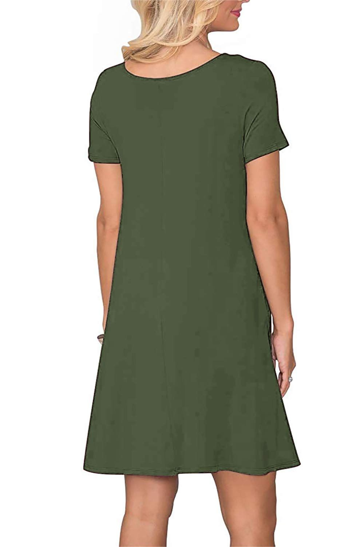Manydress Womens Summer Dresses Pockets Swing Dress With Pockets Womens Tunic Dress Sleeved Swing Dress [ 1500 x 1000 Pixel ]
