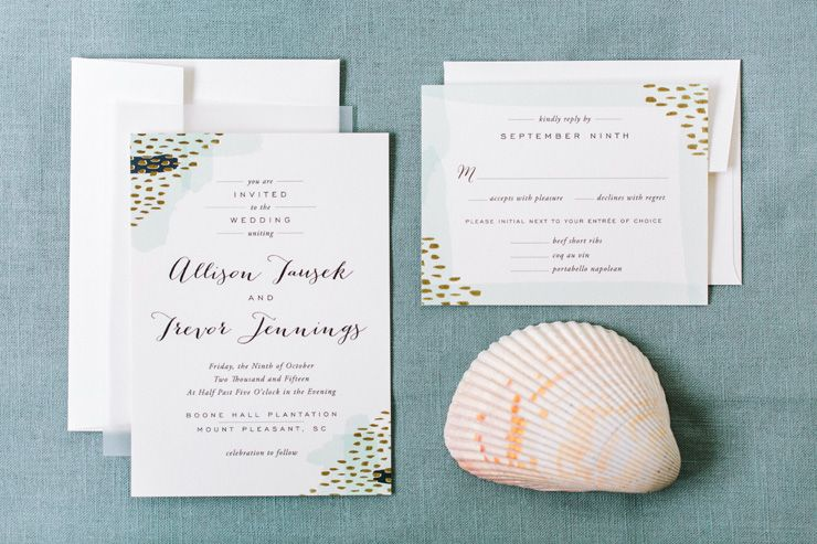 Wedding invitations for glamorous autumn wedding | fabmood.com