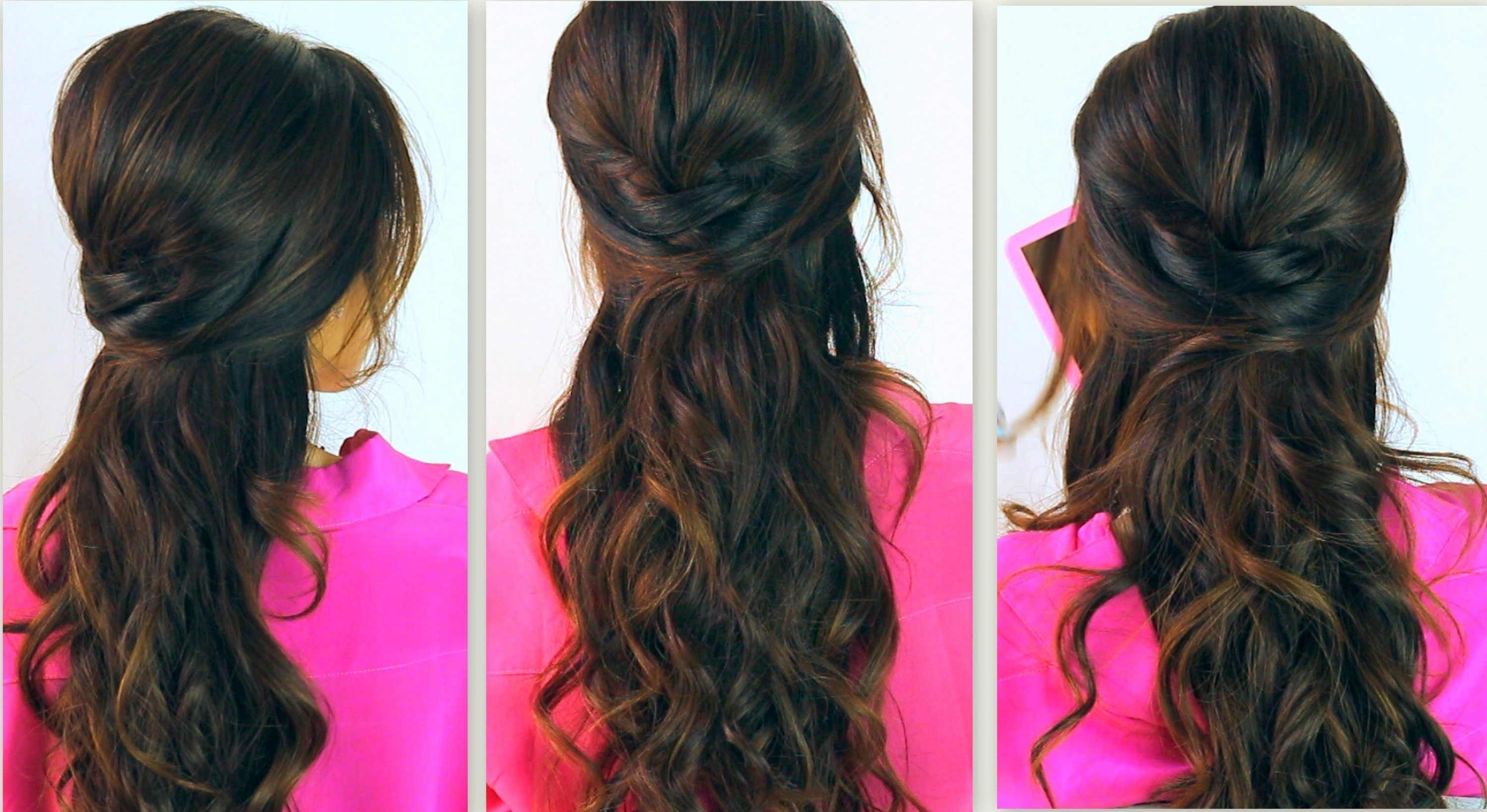 ☆CUTE BACK-TO-SCHOOL HAIRSTYLES  EVERYDAY POOFY CURLY HALF-UP