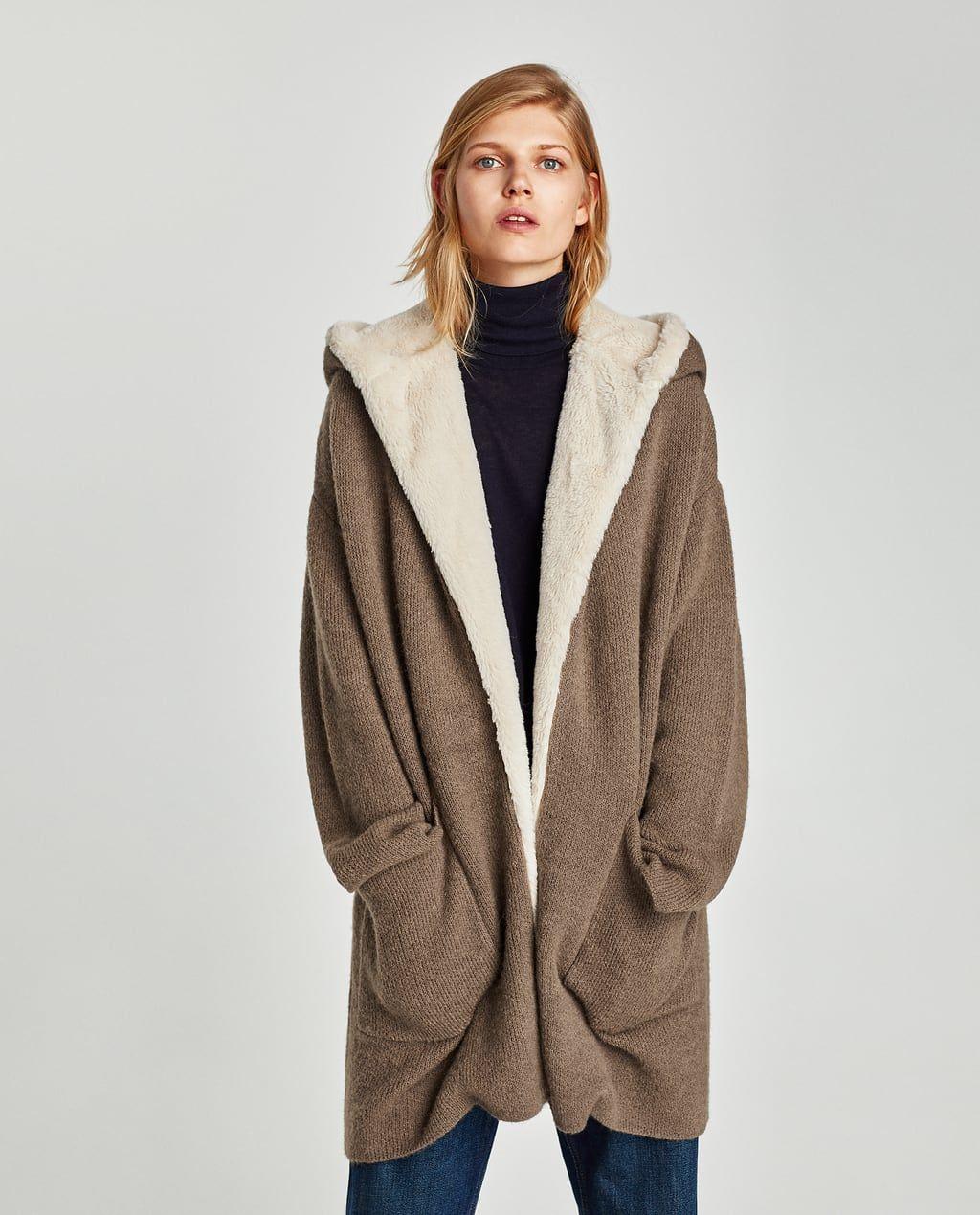 Faux fur sweater with metallic thread Jackets, Fashion