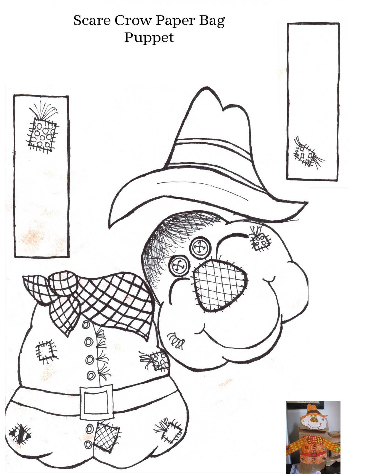 picture relating to Scarecrow Printable known as Printable Scarecrow Designs Aussie Pumpkin Patch: Mr
