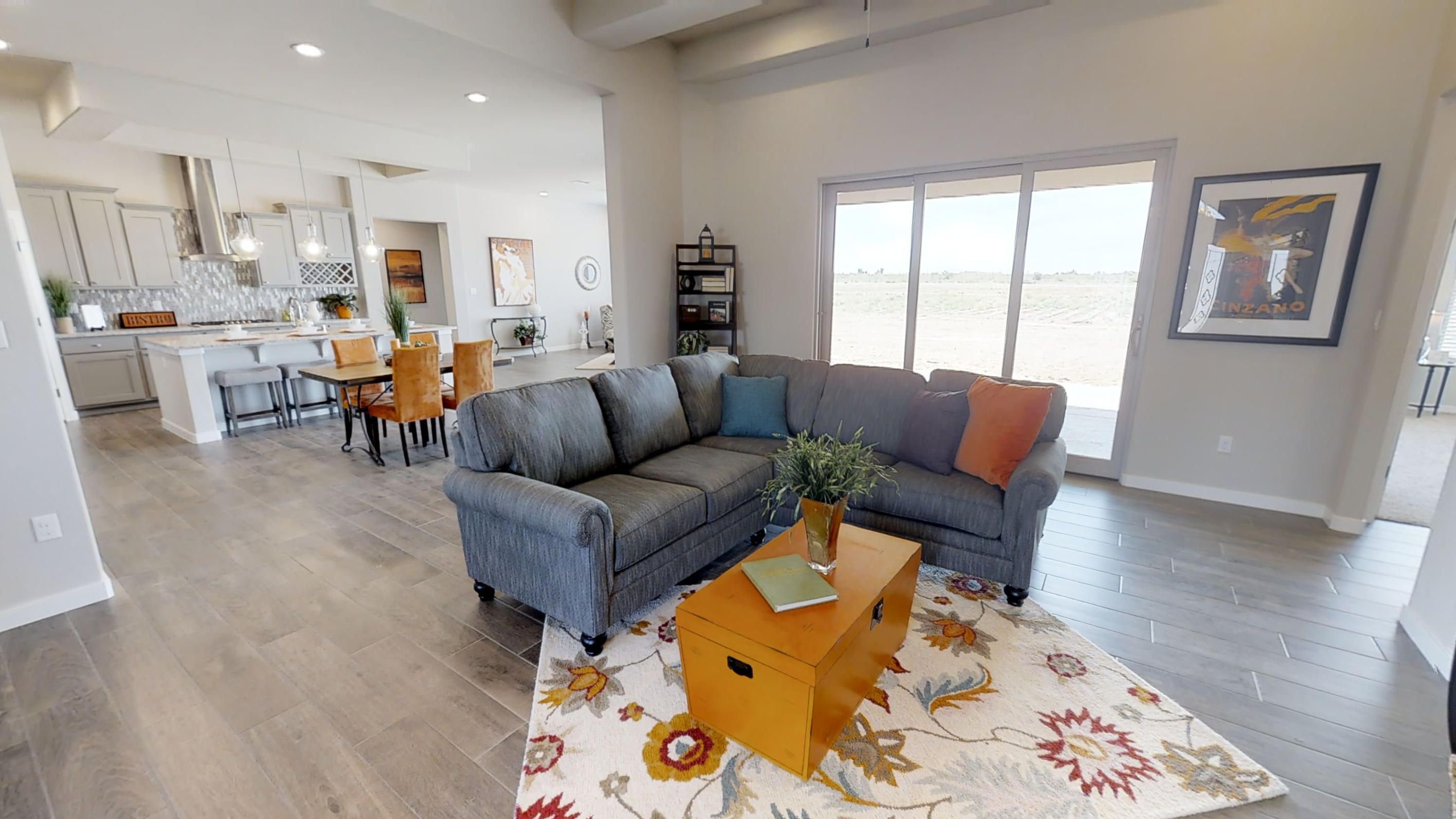 Love that pop of orange home builders new home buyer