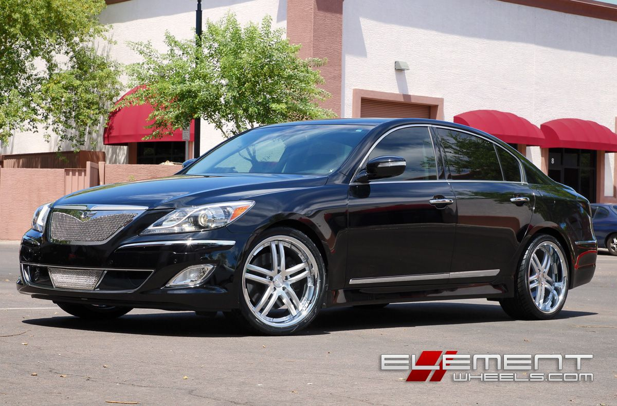 Hyundai Genesis Sedan With Concept One Wheels By Element