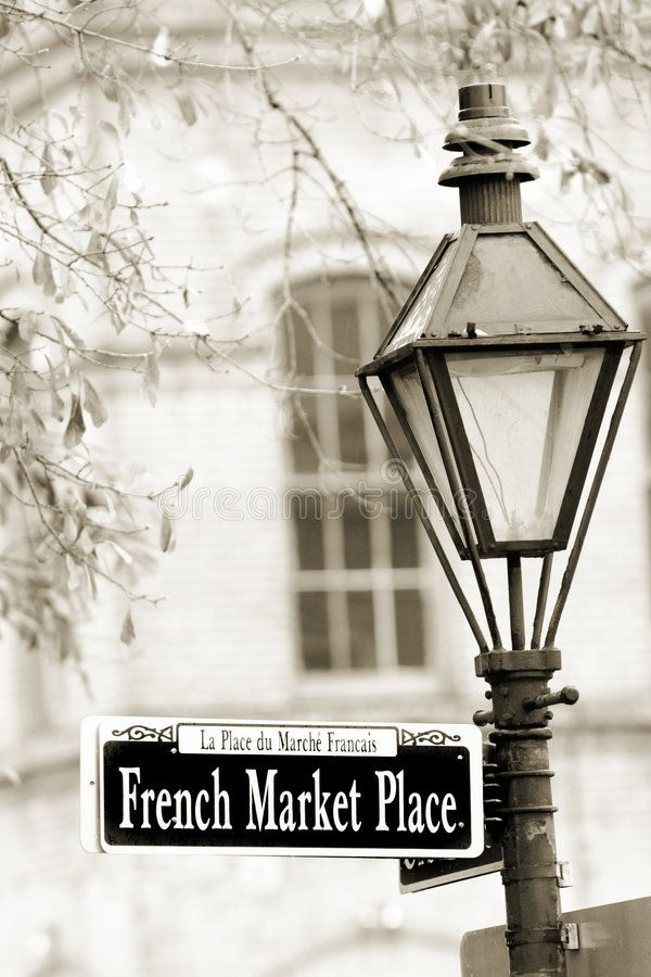 French Market. Historical French Market in New Orleans in French Quarter ,