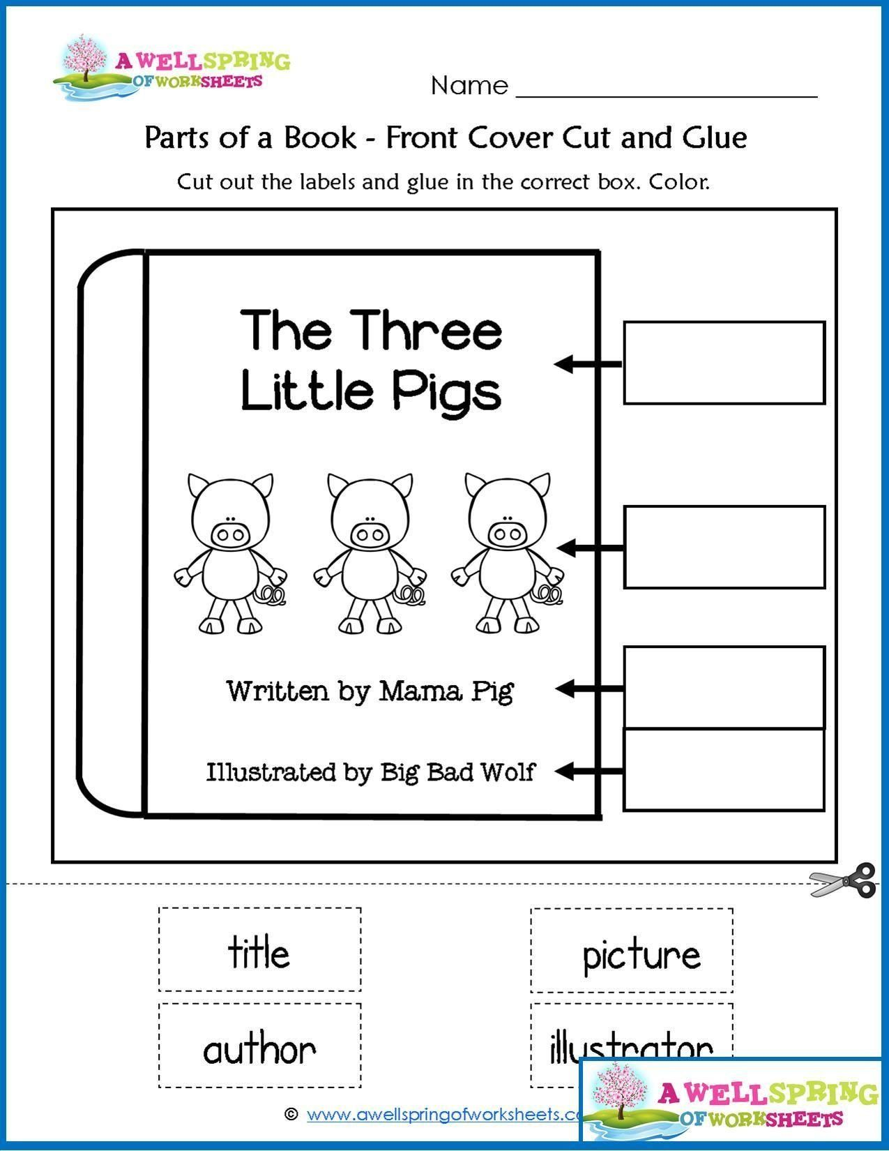 Parts Of A Book Worksheet Worksheets By Subject In
