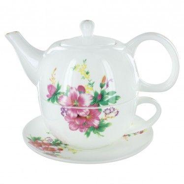 Summertime Gardens Bone China Tea for One
