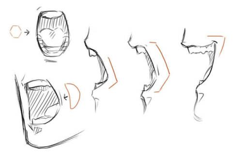 Pin By Janelle On Art Drawing Reference Drawing Expressions Mouth Drawing